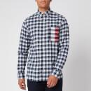 Tommy Hilfiger Men's Gingham Global Stripe Shirt - Pitch Blue/White