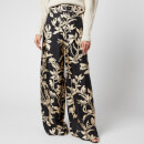 Zimmermann Women's Ladybeetle Wide Leg Pants - Black Eye Print
