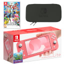 Nintendo Switch Lite (Coral) Super Smash Bros. Ultimate Pack