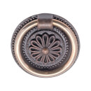 Small Ring Door Pull - Antique Copper - 1 Pair