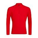 Men's 24/7 Long Sleeve Zip Base Layer - Red