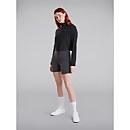Women's Prism Crop Half Zip Fleece - Black