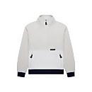 Unisex Polar Fleece 90 Half Zip Fleece - Grey / Natural