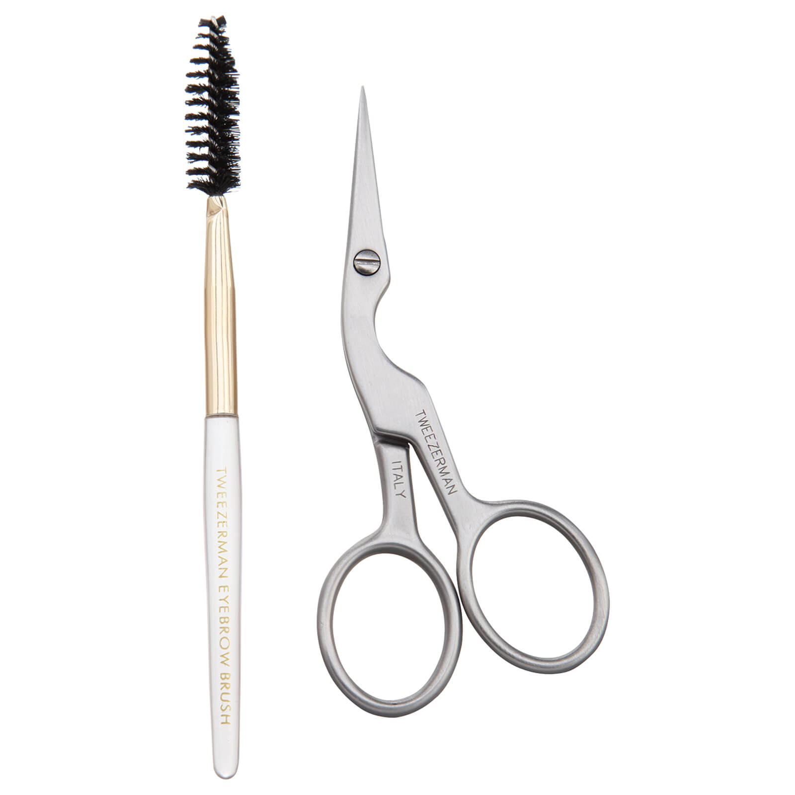 Купить Ножницы и щеточка для тримминга бровей Tweezerman Brow Shaping Scissors And Brush