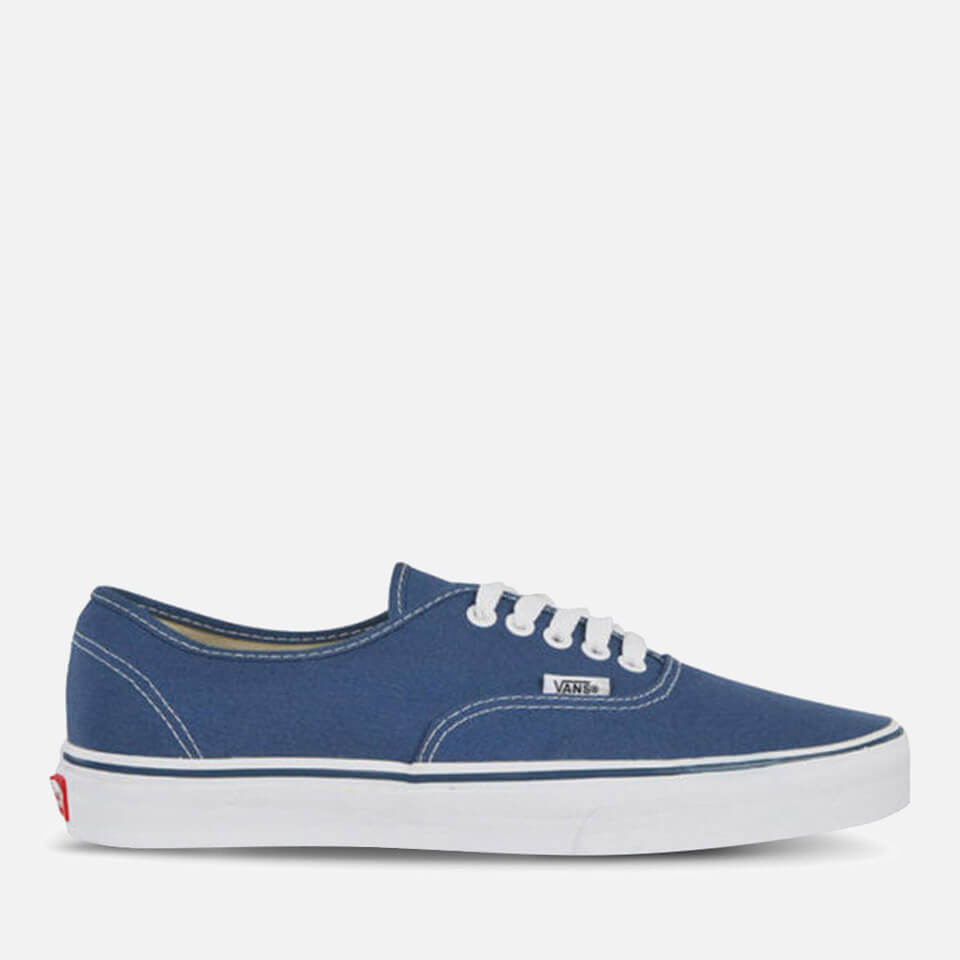 Vans Authentic Canvas Trainers Navy Uk 4