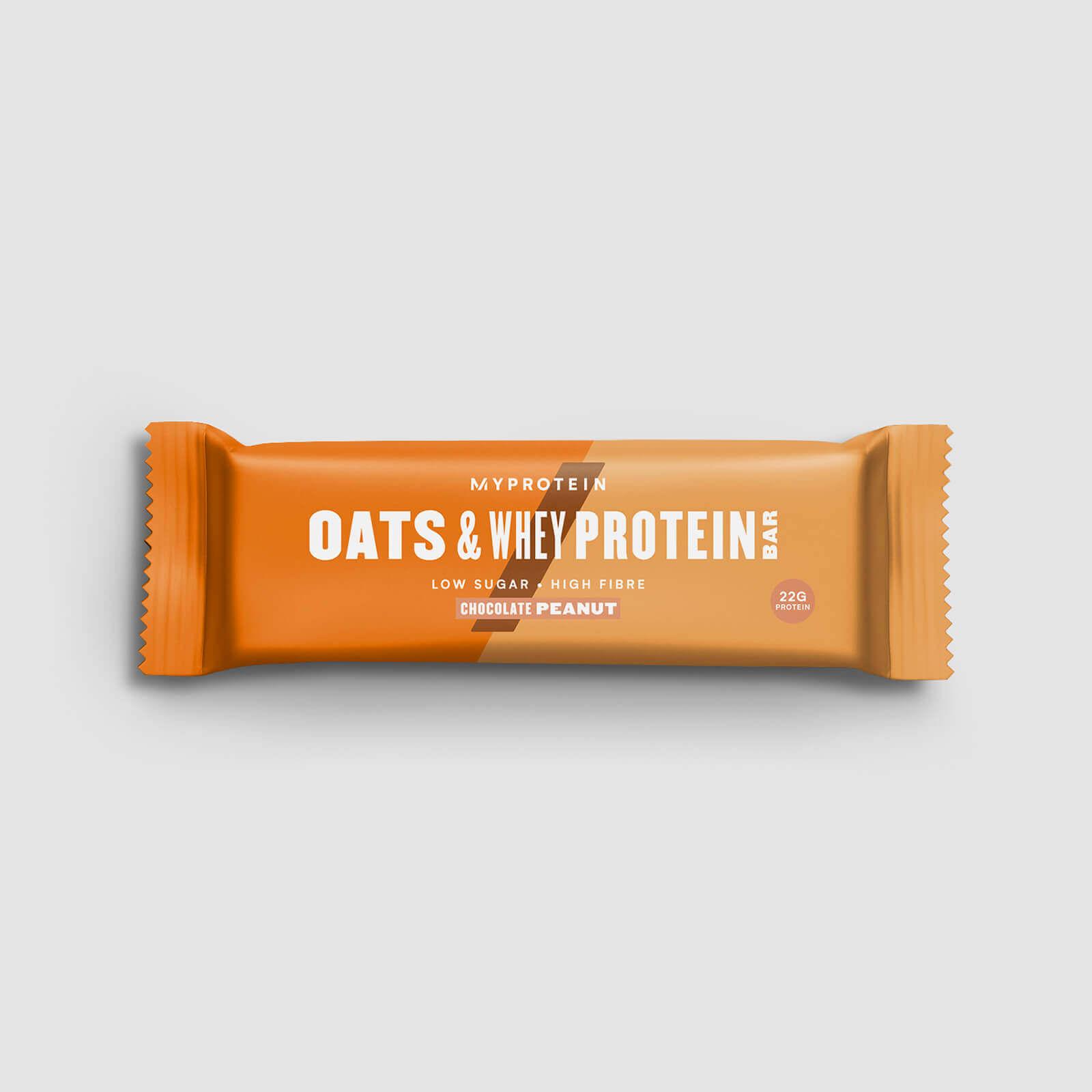 Barre avoine et whey (échantillon) - Chocolat-Cacahuète