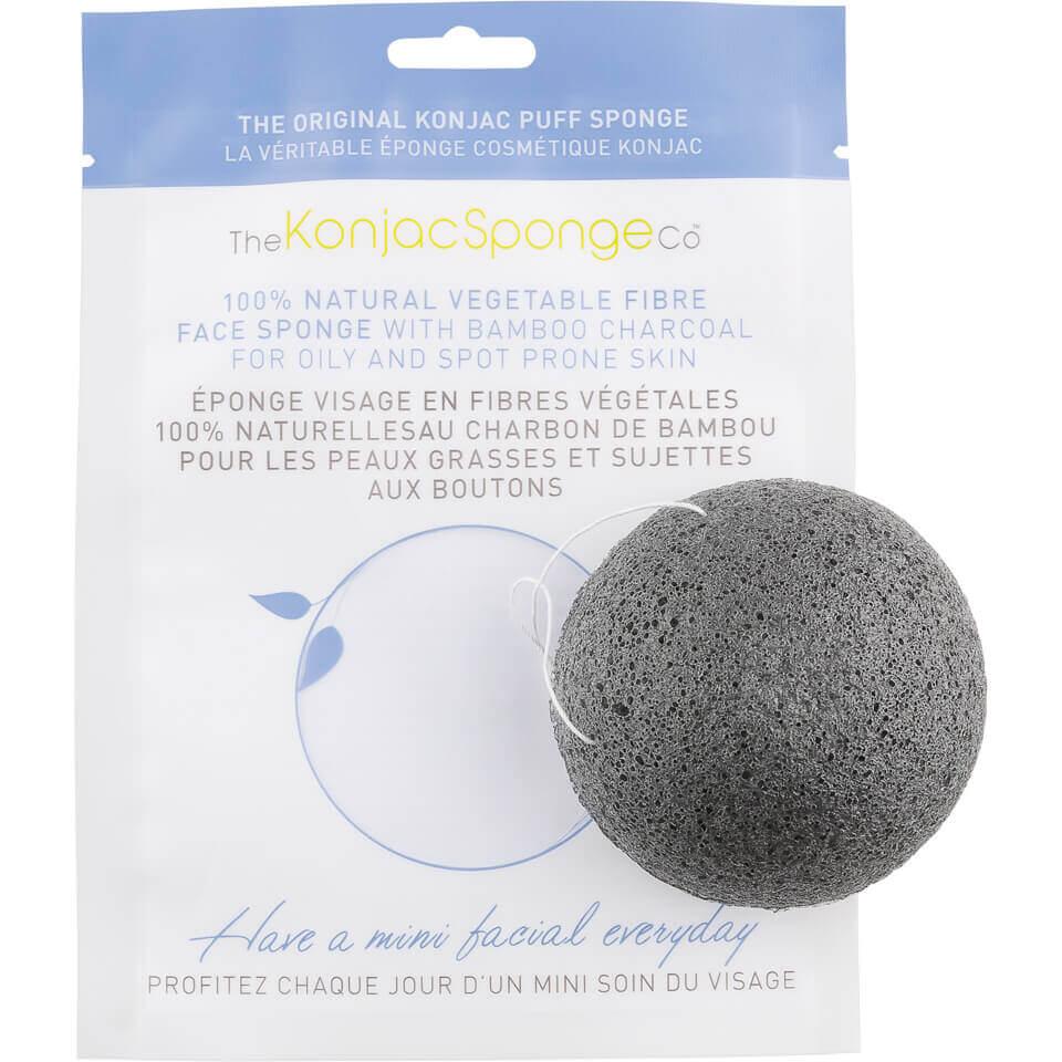 Купить Спонж для очищения лица с бамбуковым углем The Konjac Sponge Company Facial Puff Sponge with Bamboo Charcoal