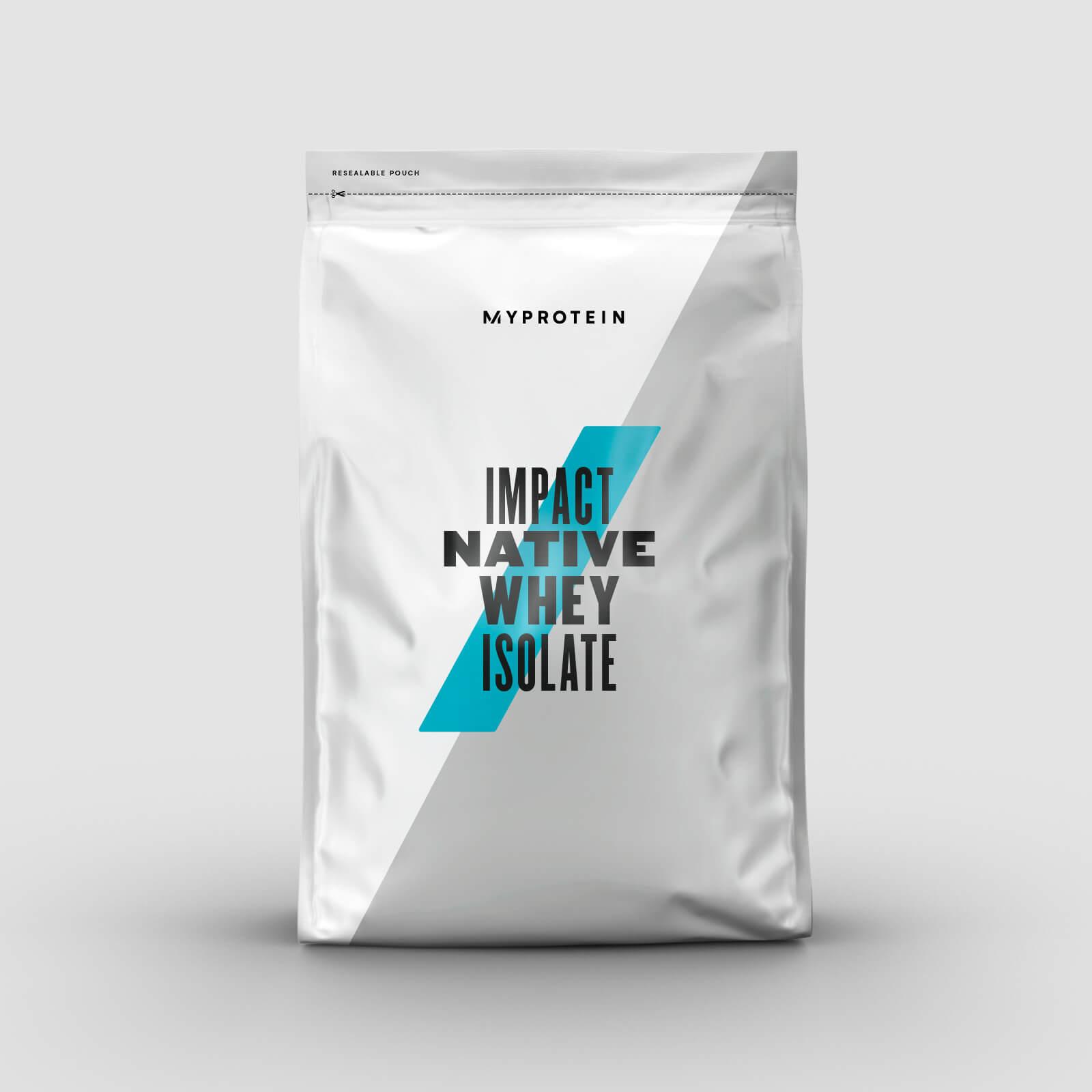 Купить Impact Native Whey Isolate (Изолят сывороточного белка) - 2.5kg - Натуральная клубника, Myprotein International