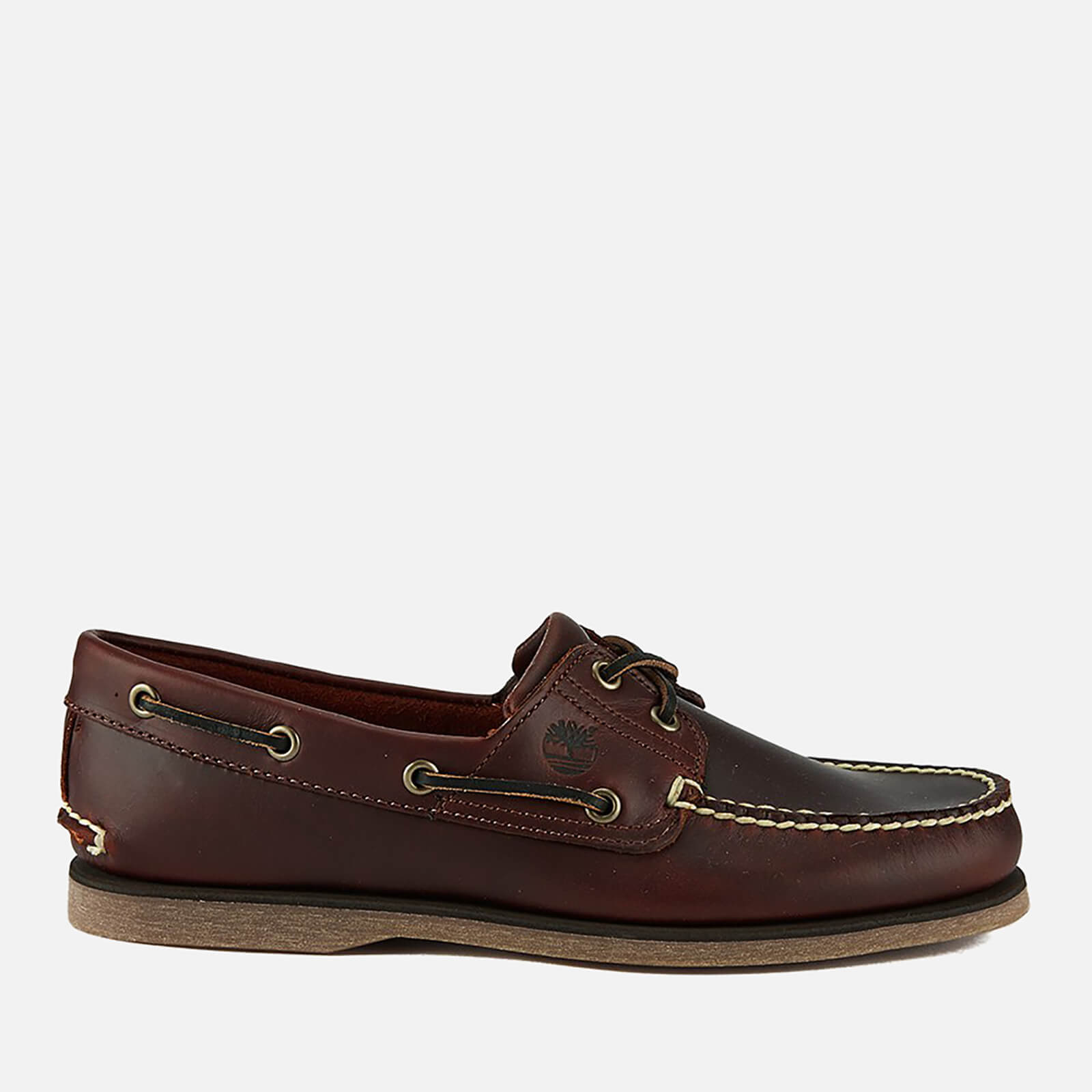 Timberland Mens Classic 2 Eye Boat Shoes Rootbeer Smooth Uk 9 Brown
