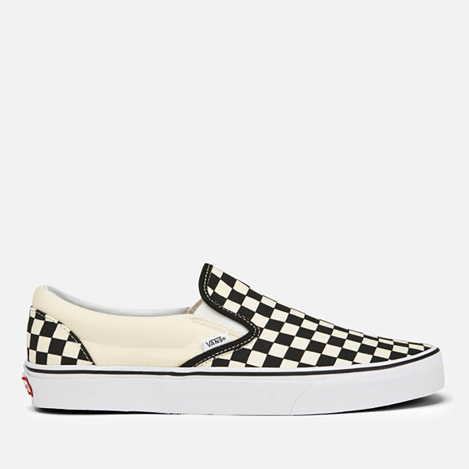 Vans Classic Slip On Trainers Black White Checkerboard Uk 10