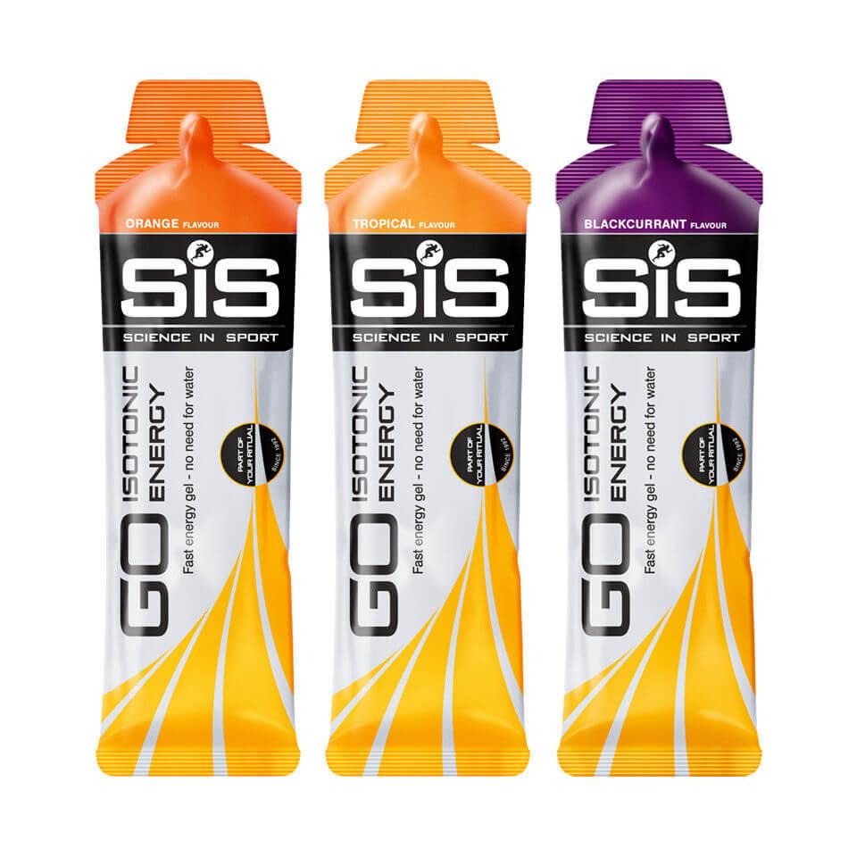Science in Sport Go Isotonic Gel 60ml - 30 Stück - 30Softgel - Box - Pink Grapefruit