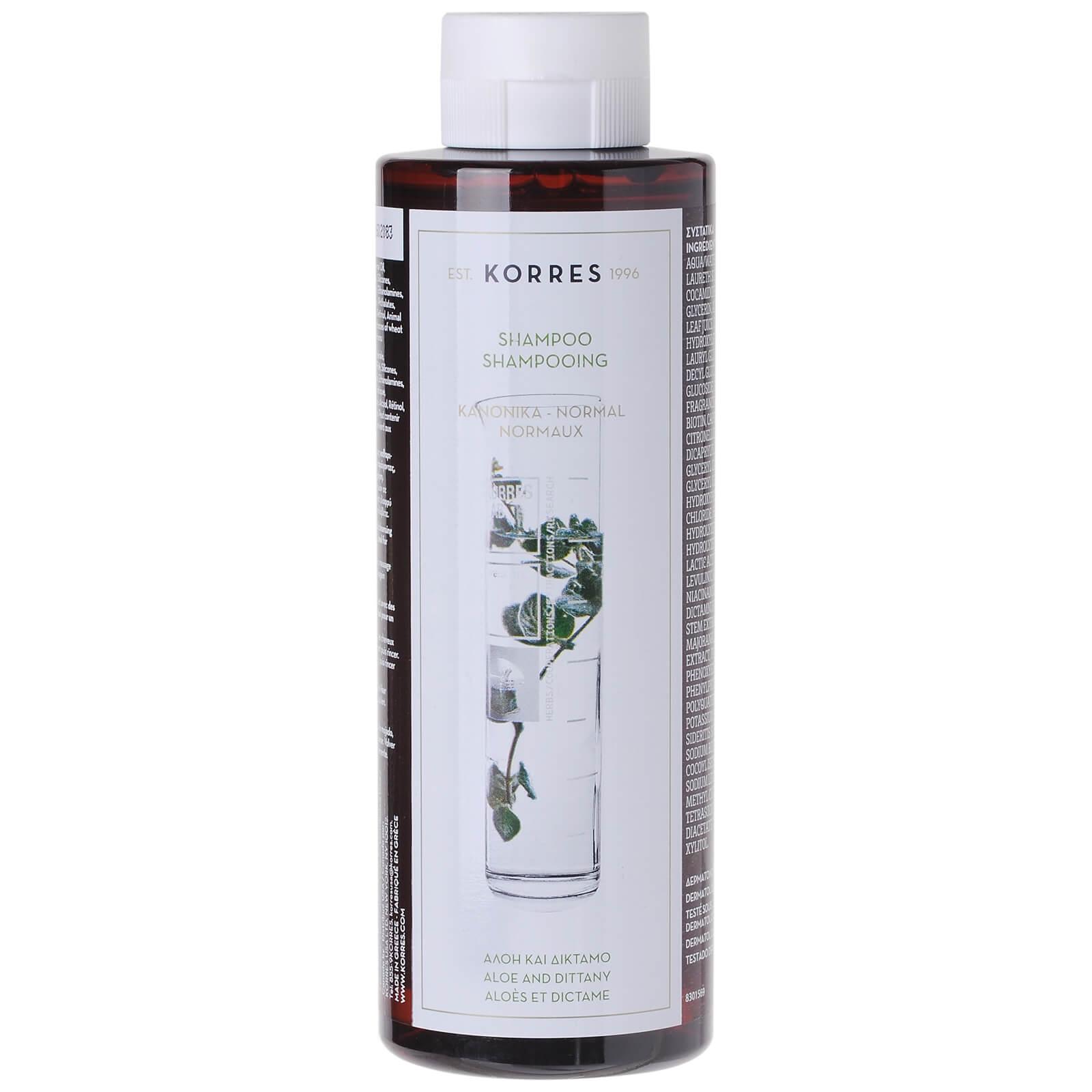 Купить Шампунь для нормальных волос с алоэ и ясенцем KORRES Shampoo Aloe and Dittany For Normal Hair (250 мл)