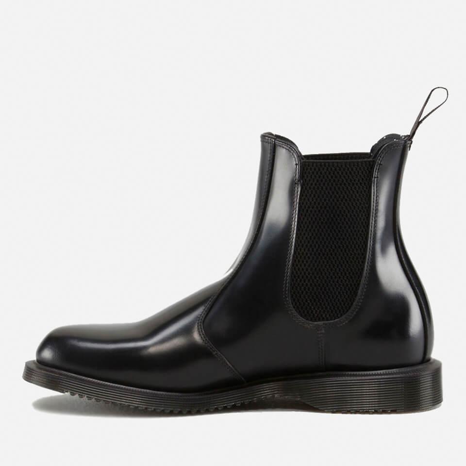 Dr. Martens Women's Flora Polished Smooth Leather Chelsea Boots - Black - Uk 8