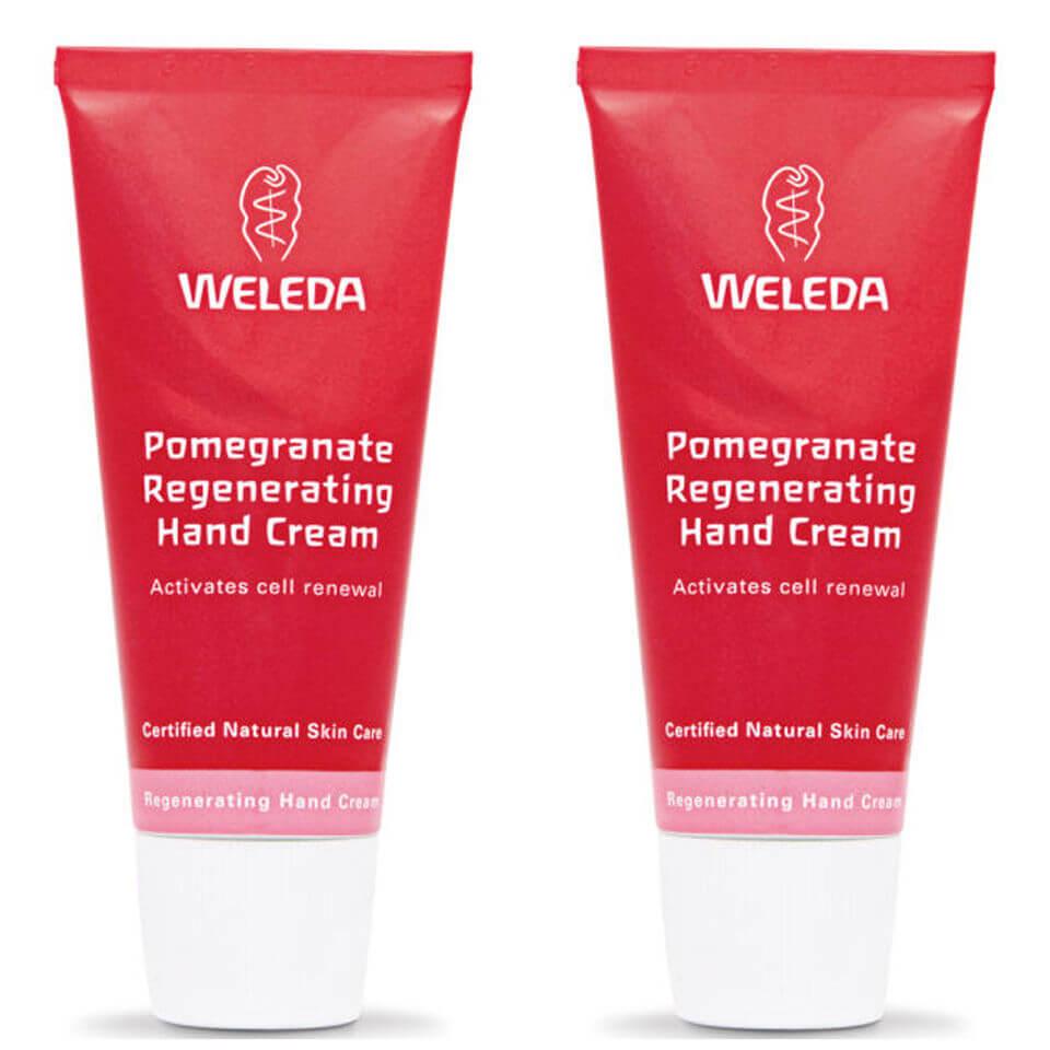 Набор восстанавливающих кремов для рук с экстрактом граната Weleda Pomegranate Regenerating Hand Cream Duo  - Купить