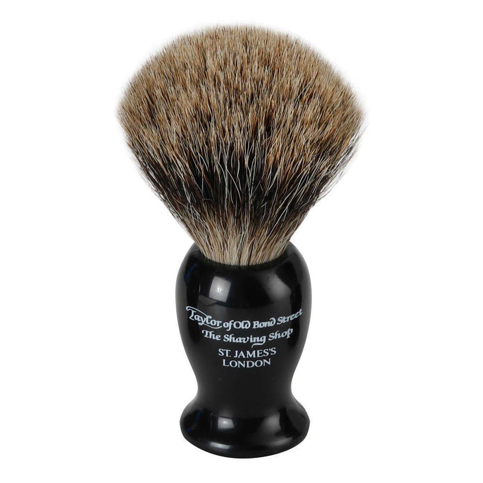 Taylor of Old Bond Street Black Pure Badger Shaving Brush (Medium)