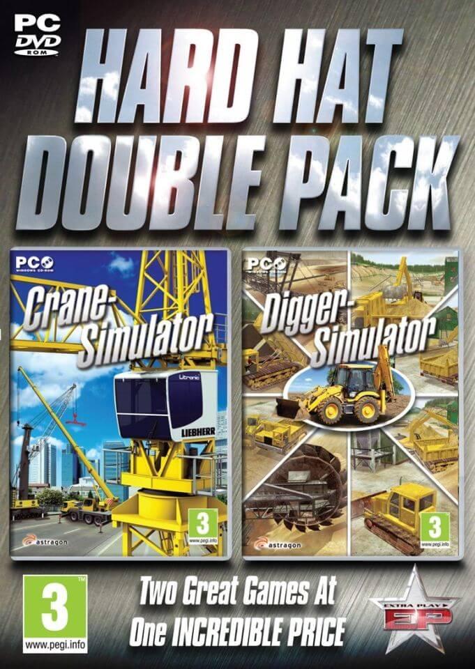 Hard Hat Double Pack – Crane & Digger Simulation