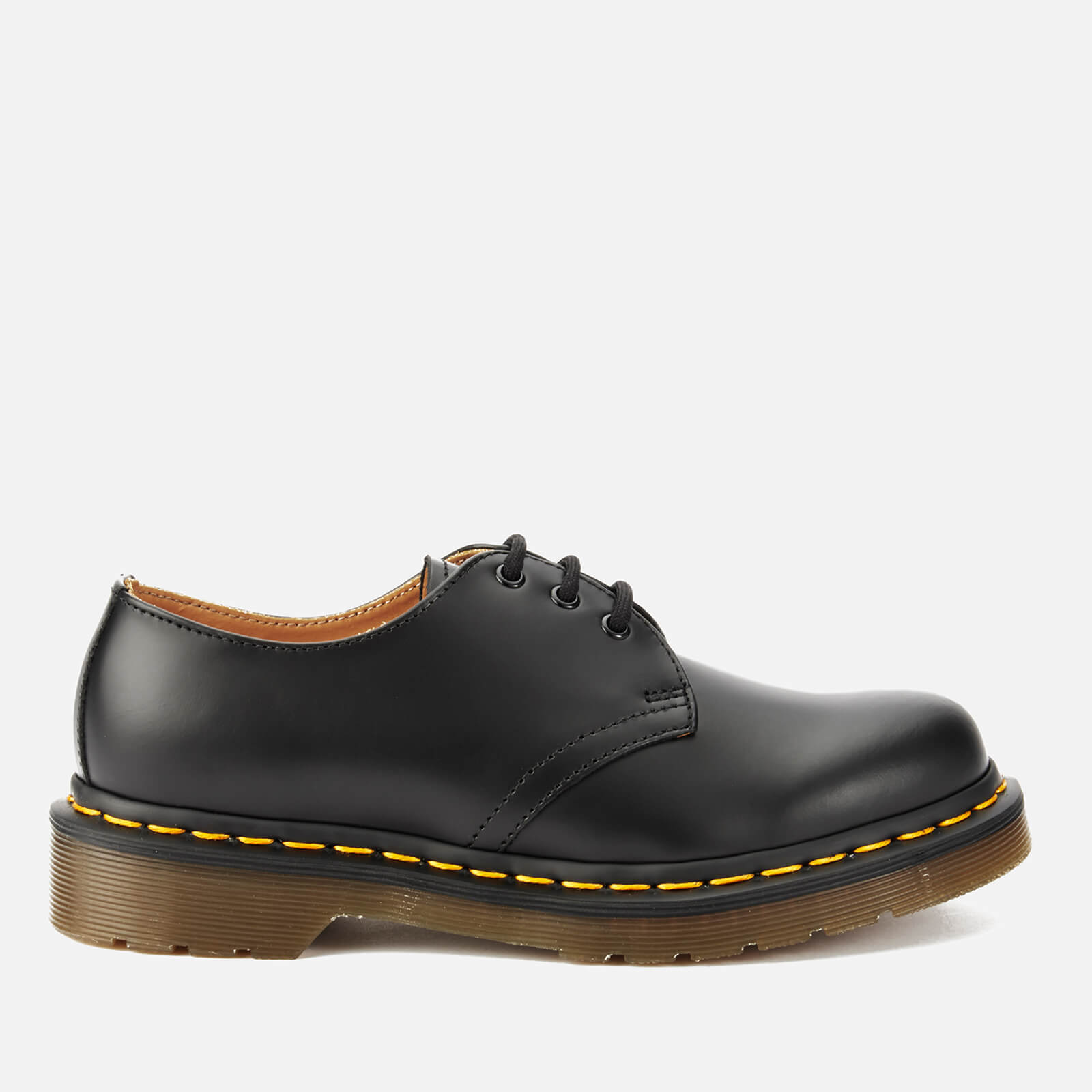 Dr Martens 1461 Smooth Leather 3 Eye Shoes Black Uk 8