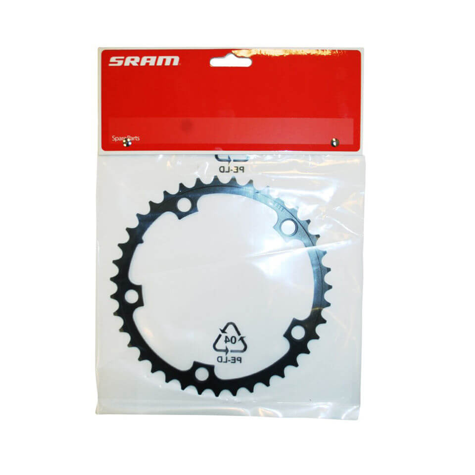 Sram Force Chainring 39t 10 Speed - 130 Bcd 39t - Black