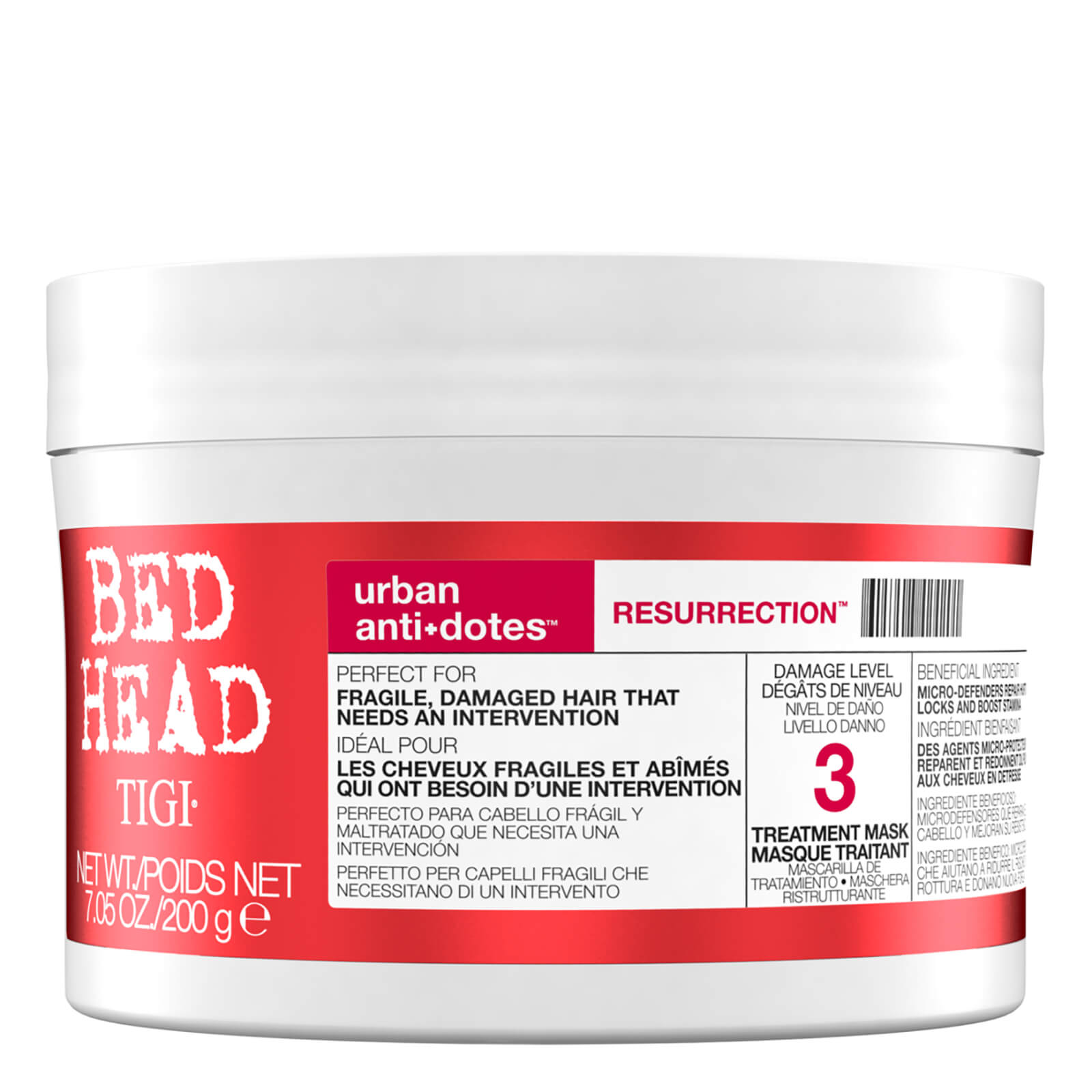Купить Маска для сильно поврежденных волос, 3 TIGI Bed Head Urban Antidotes Resurrection Treatment Mask (200 г)