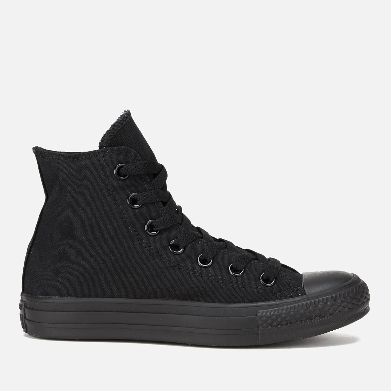 Converse All Star Canvas Hi Top Trainers Black Monochrome Uk 10