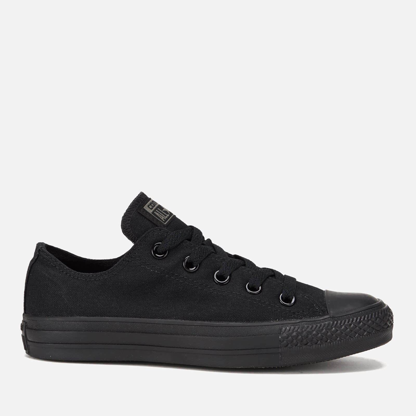Converse Chuck Taylor All Star Ox Canvas Trainers Black Monochrome Uk 6