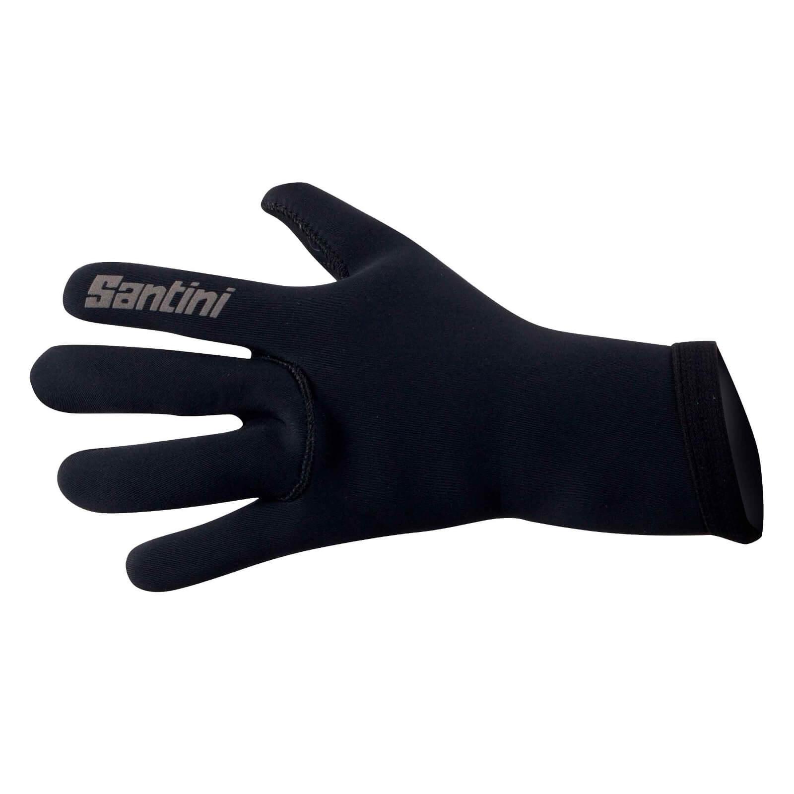 Santini Neo Blast Neoprene Gloves - Black - S - Black