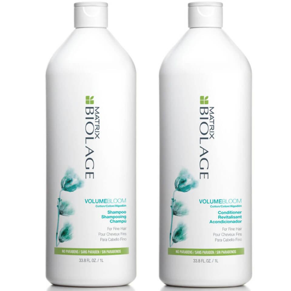Купить Шампунь и кондиционер для придания объема тонким волосам Matrix Biolage VolumeBloom Shampoo and Conditioner (1000 мл)