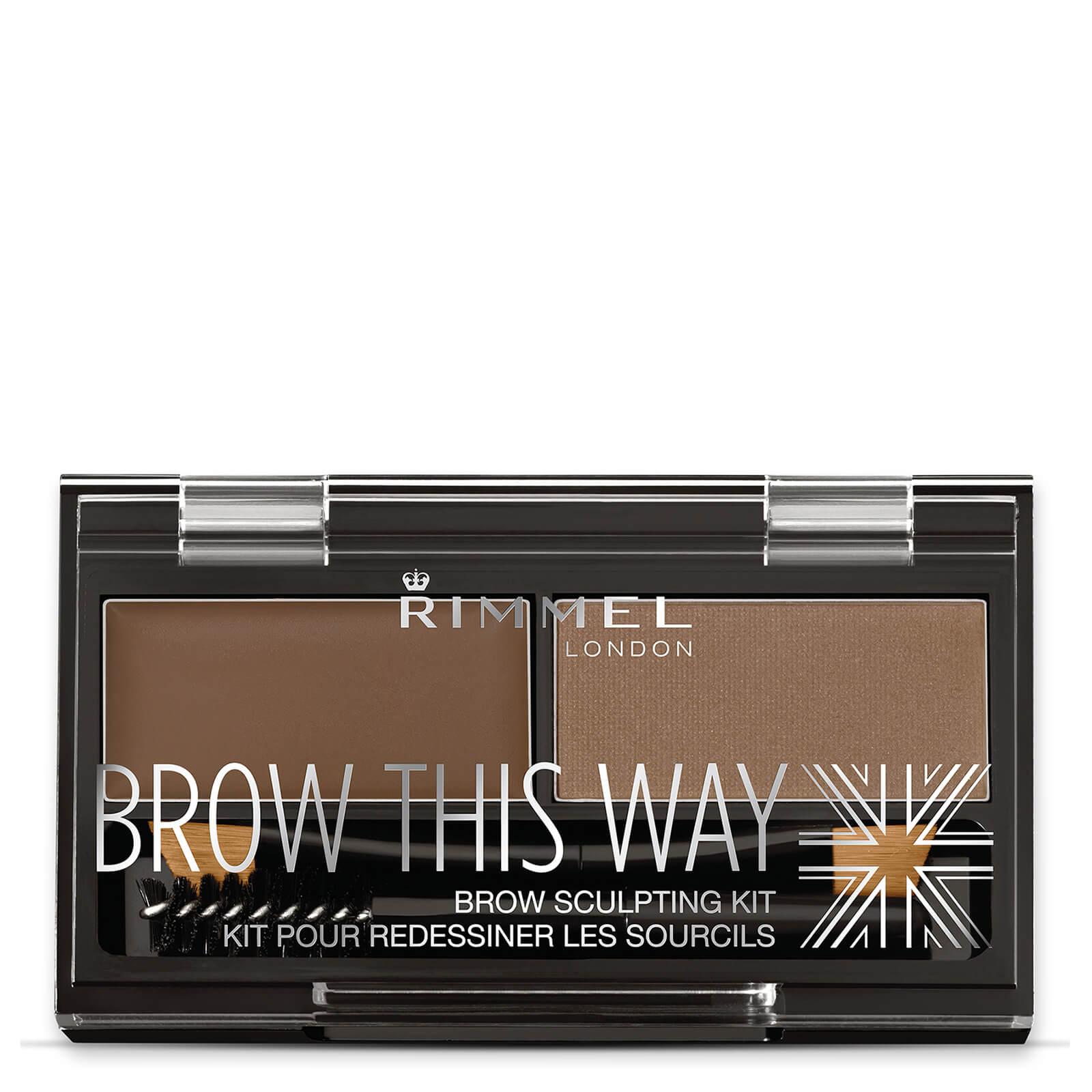 Купить Rimmel Brow This Way Eyebrow Kit - набор для бровей средне-коричневый