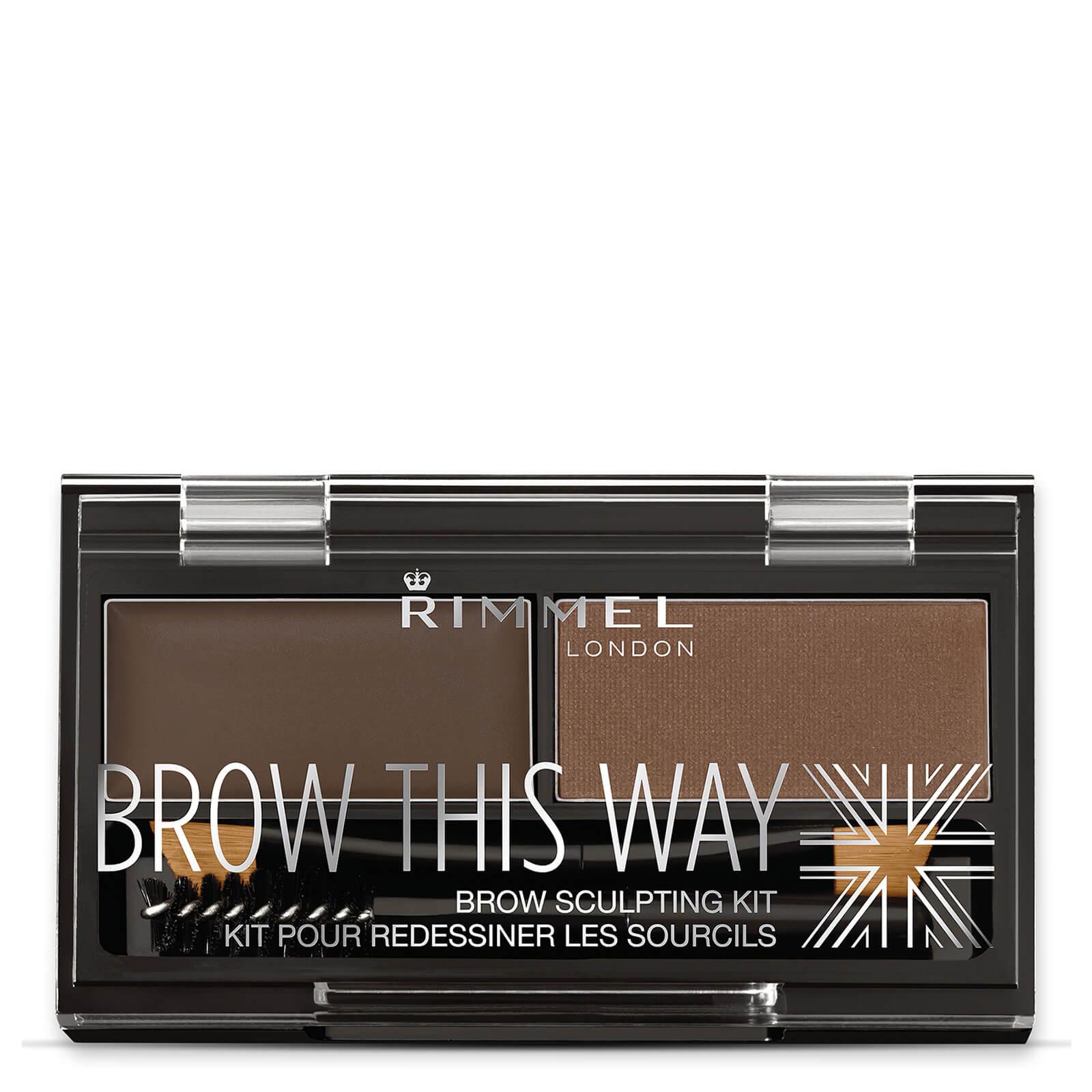 Купить Rimmel Brow This Way Eyebrow Kit - набор для бровей темно-коричневый