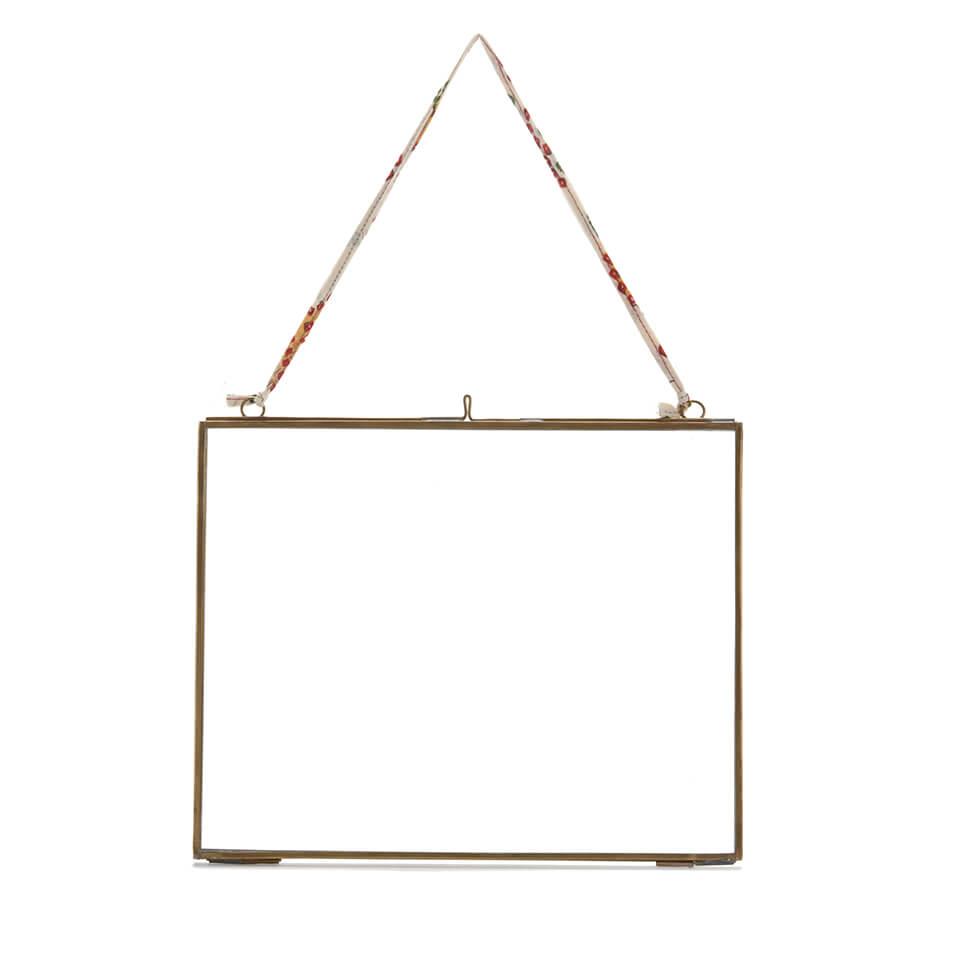 Nkuku Kiko Antique Brass Glass Frame - Landscape 8 x 10