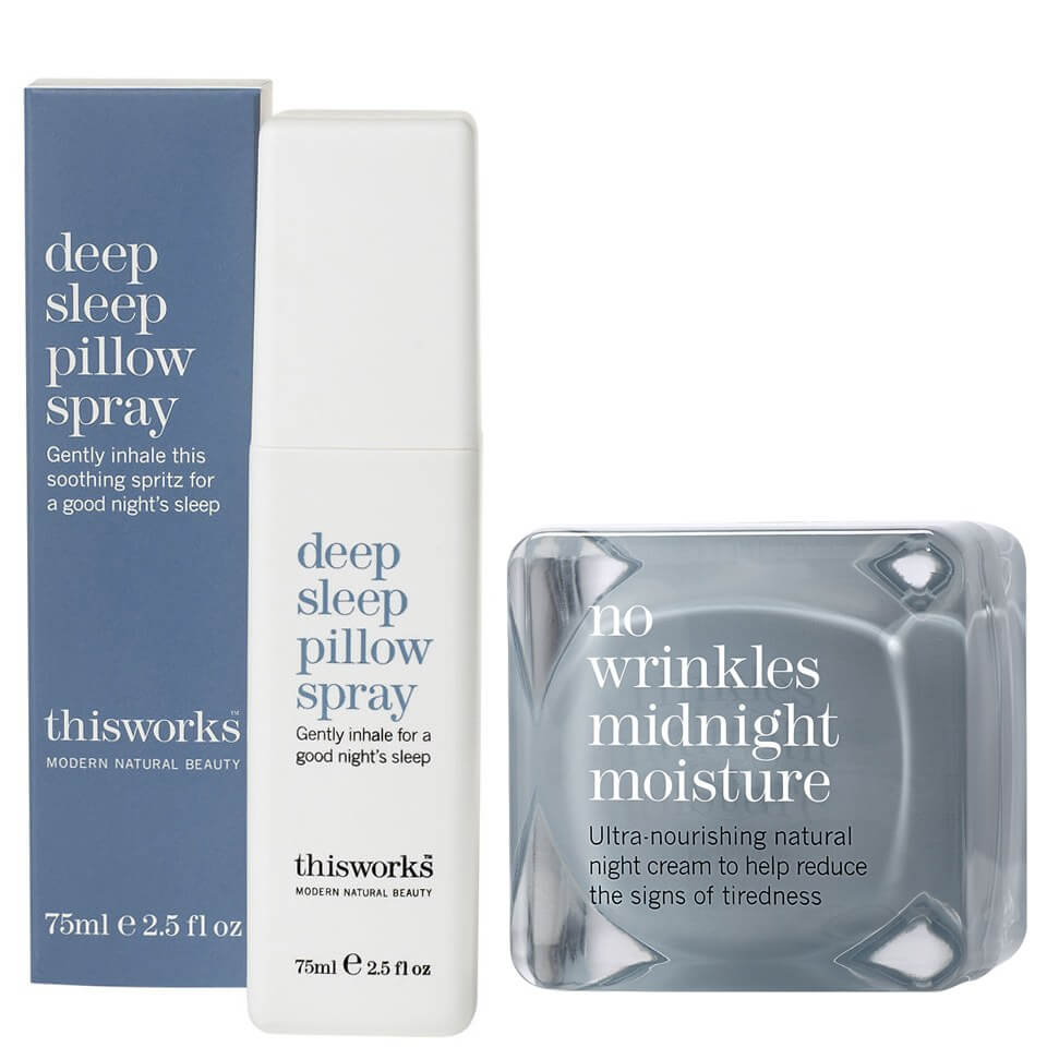 Watch a story about THIS WORKS DEEP SLEEP PILLOW SPRAY (75ML) & NO WRINKLES MIDNIGHT MOISTURE (48ML)