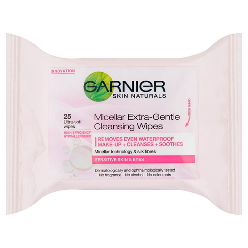 Image of Garnier Skin Naturals salviette micellari detergenti ultra-delicate (25 salviette)
