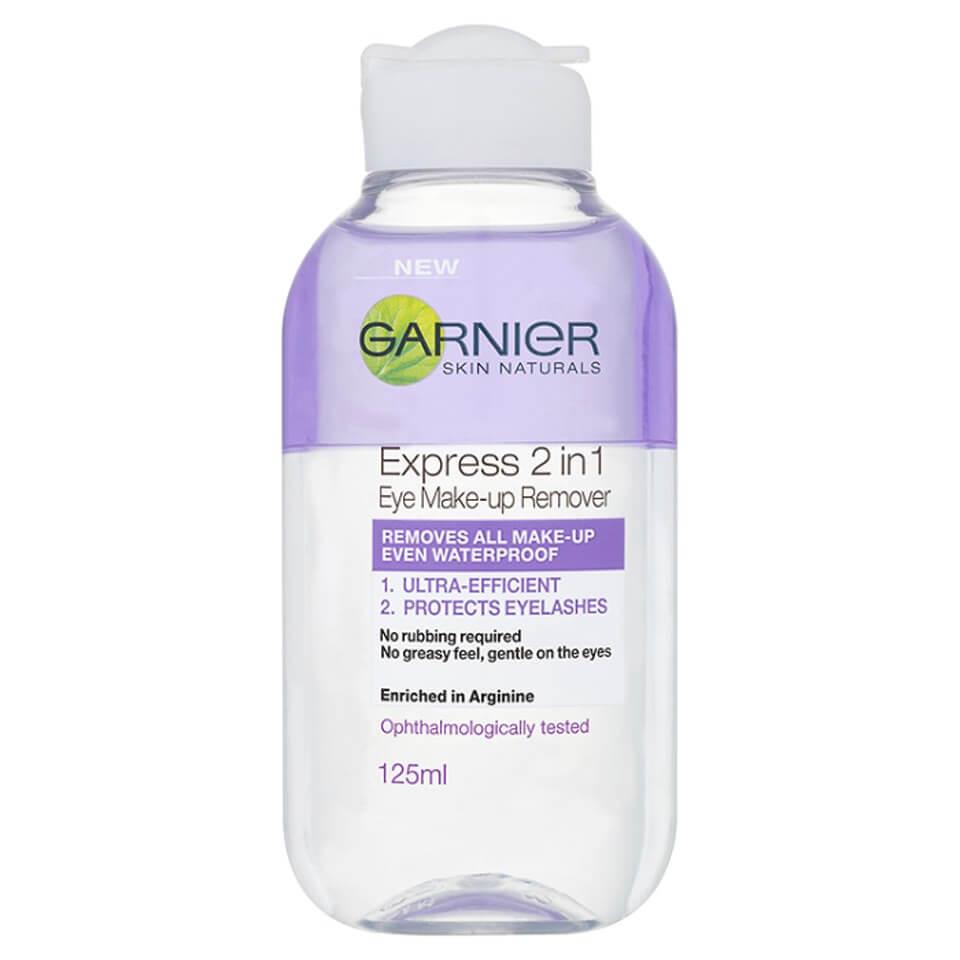 Купить Средство 2-в-1 для снятия макияжа вокруг глаз Garnier Skin Naturals 2-in-1 Eye Make-Up Remover (125 мл)