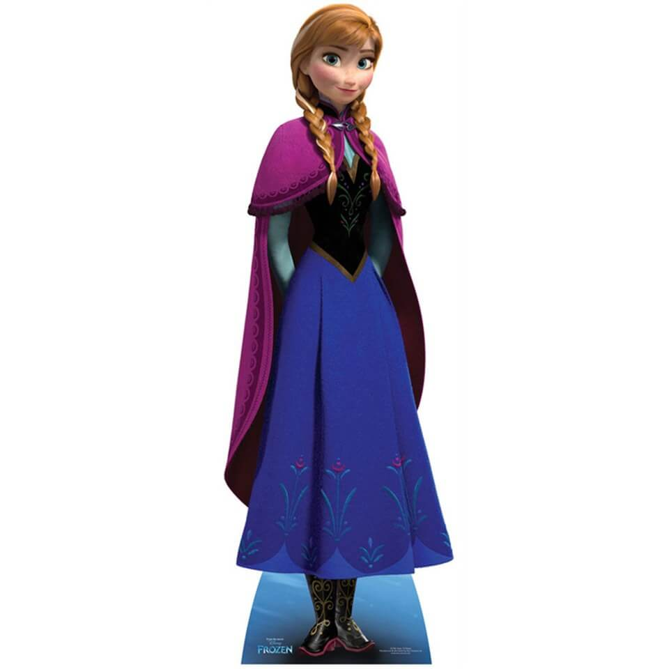 Image of Disney Frozen Anna Lifesized Cardboard Cut Out