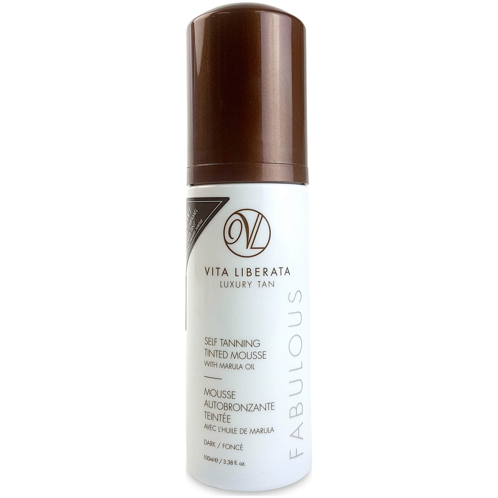 vita liberata fabulous self tanning tinted mousse dark 100ml