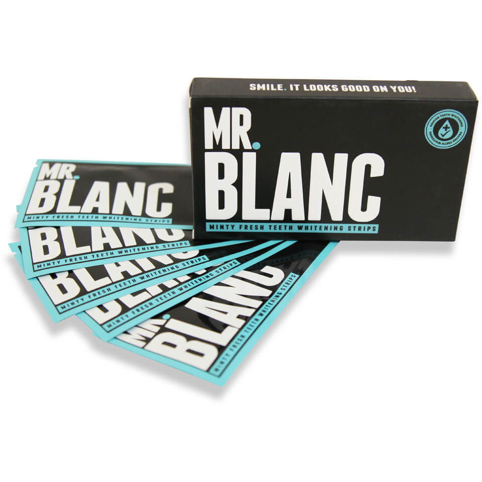 Mr Blanc Teeth Whitening Strips 14 Day Supply - strisce sbiancanti per 14 giorni