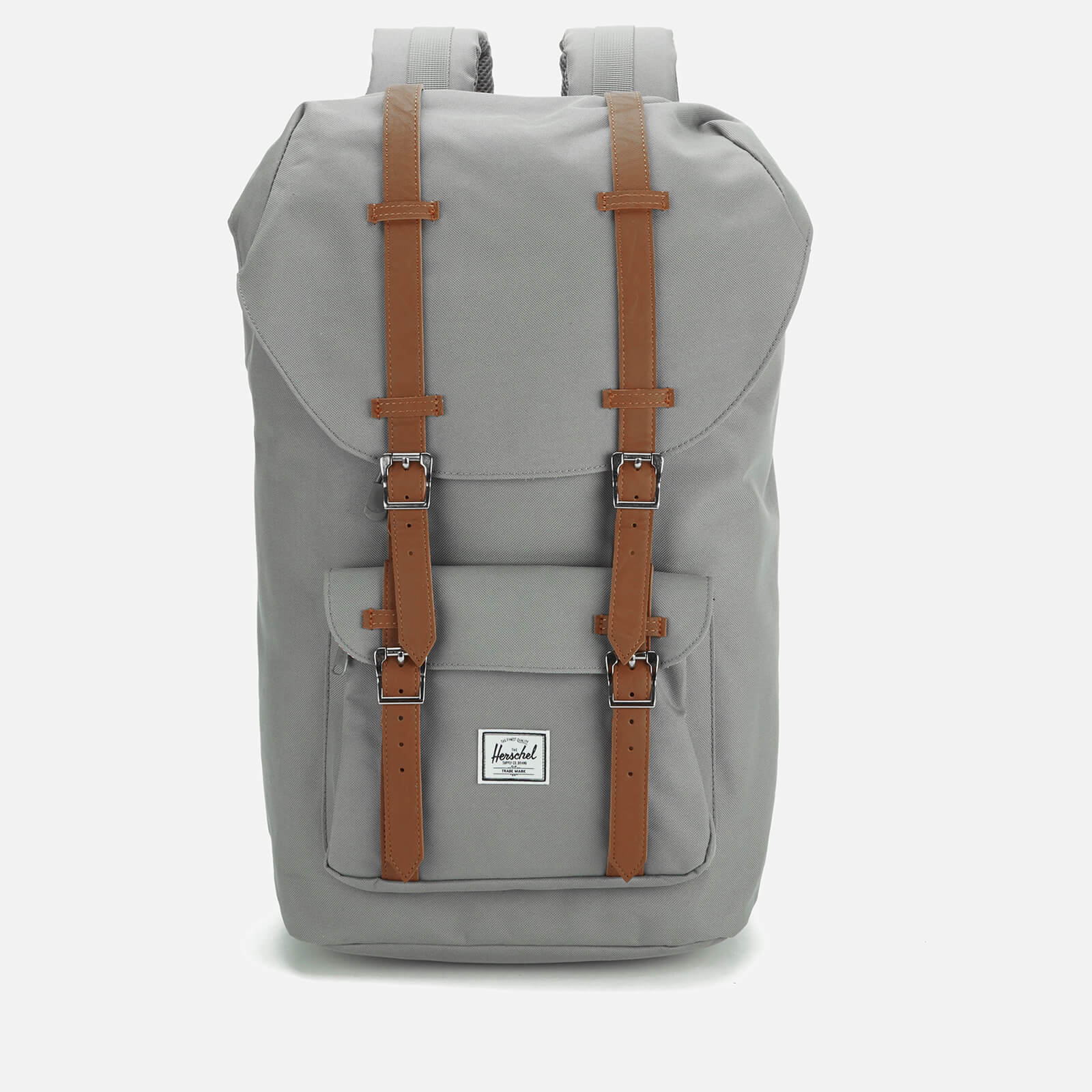 Click to view product details and reviews for Herschel Supply Co Little America Backpack Grey Tan Synthetic Leather.