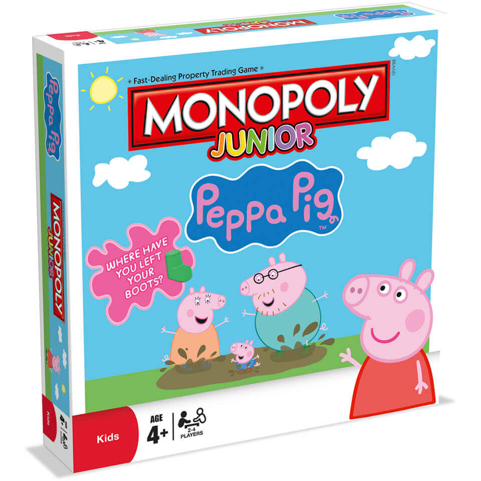 Image of Monopoly Board Game - Peppa Pig Jr. Edition