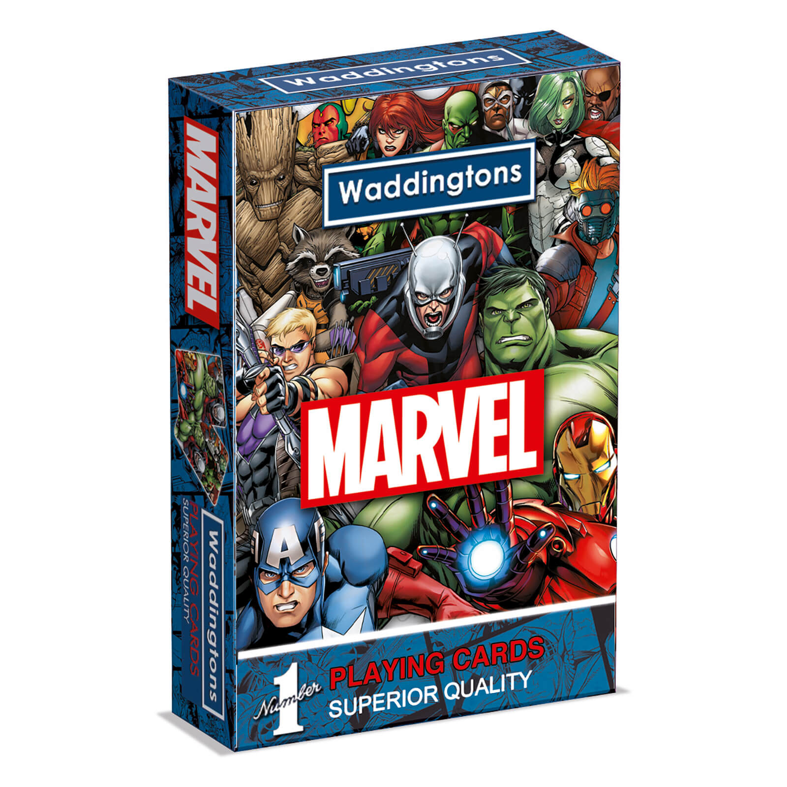 Image of Waddingtons Number 1 Playing Cards - Marvel Universe Edition
