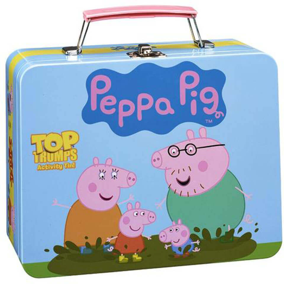 Image of Top Trumps Activity Tin Game - Peppa Pig Edition