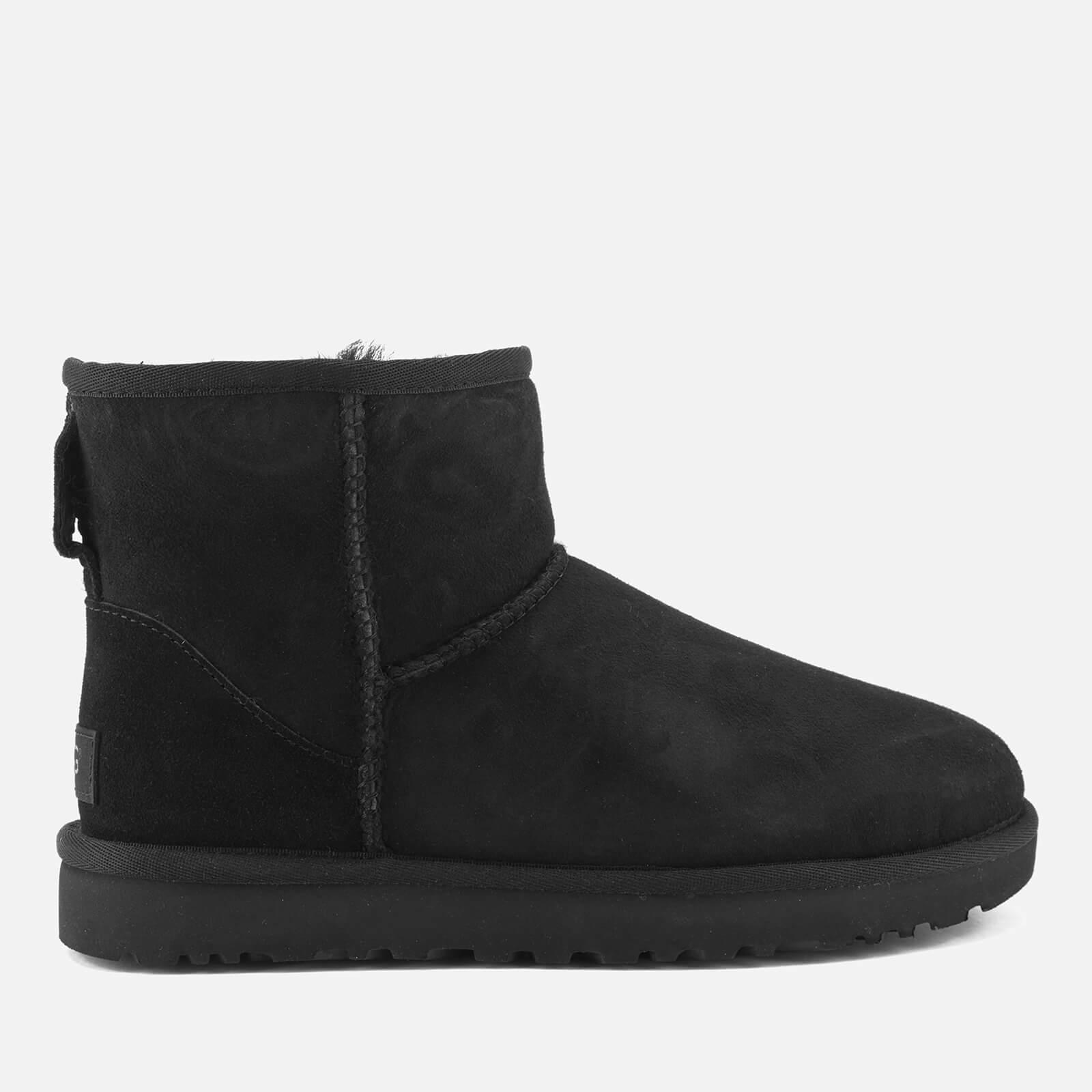 UGG Women's Classic Mini II Sheepskin Boots - Black - UK 8
