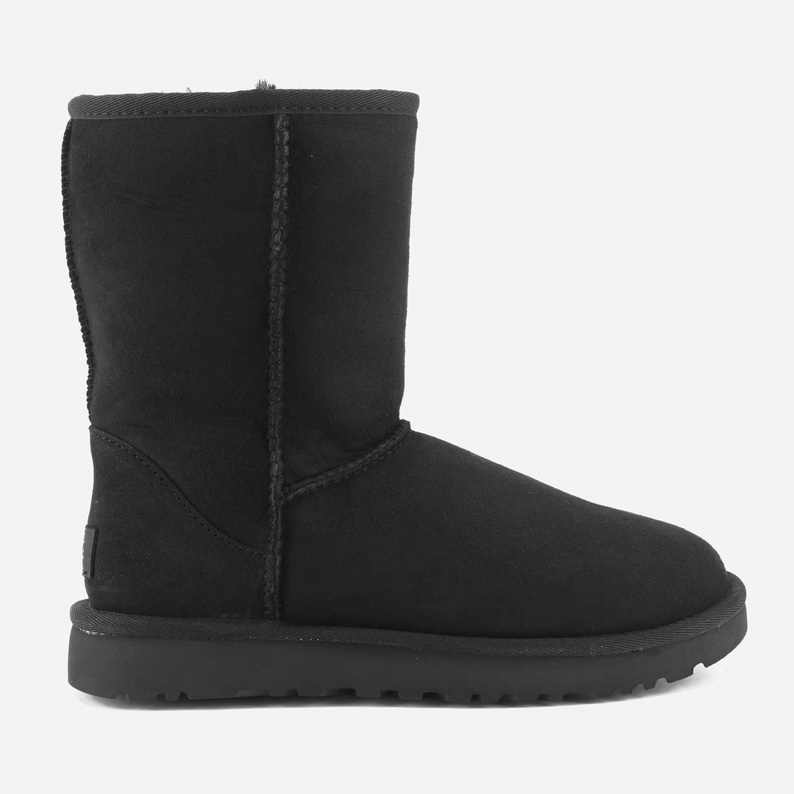 UGG Women's Classic Short II Sheepskin Boots - Black - UK 3