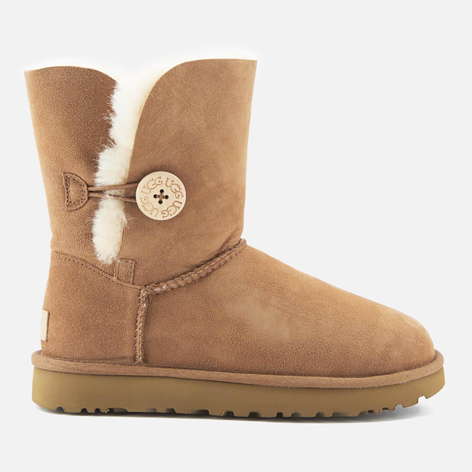 Ugg Women's Bailey Button Ii Sheepskin Boots - Chestnut - Uk 3