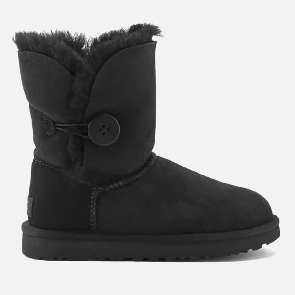 Ugg Women's Bailey Button Ii Sheepskin Boots - Black - Uk 3