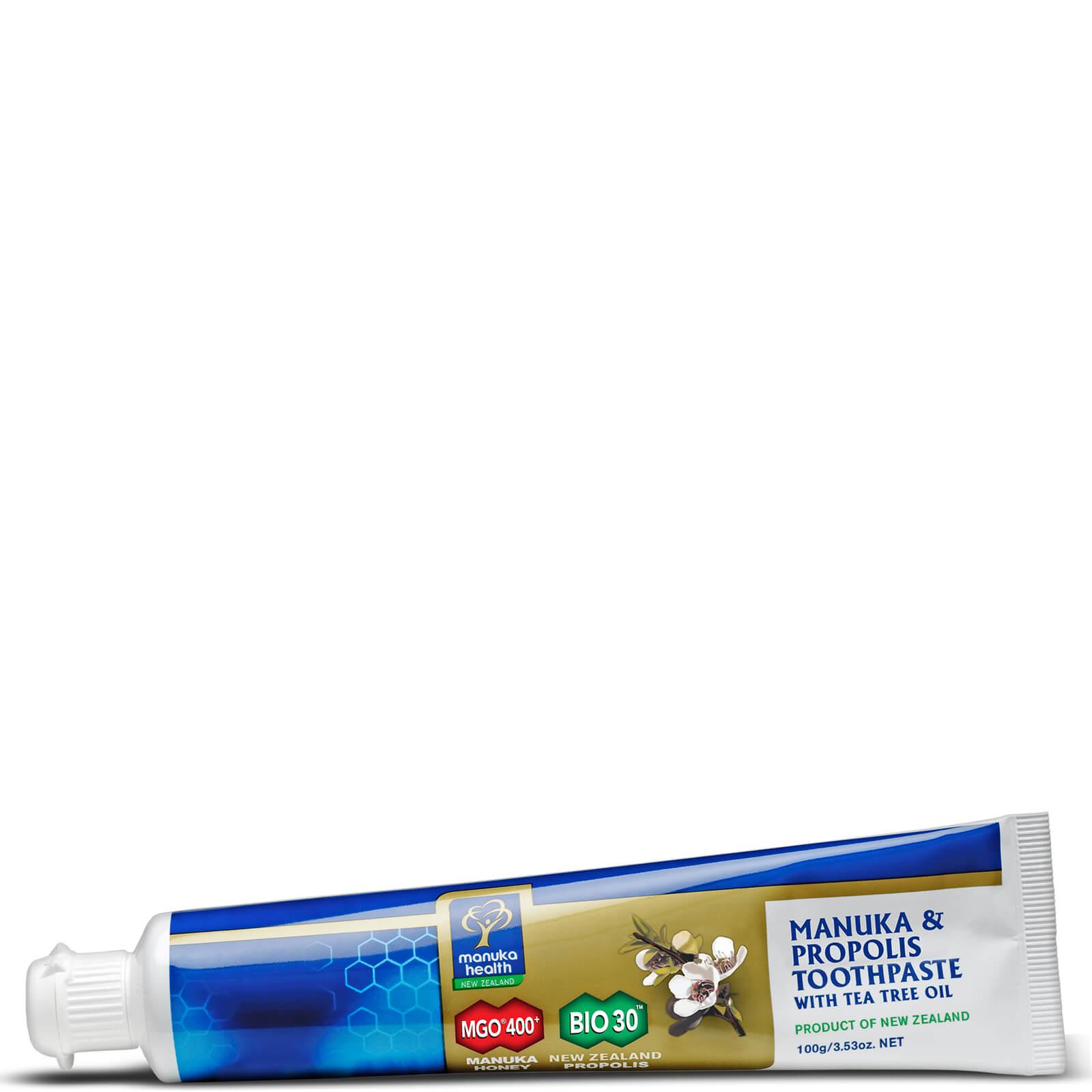 Купить Антибактериальная зубная паста Manuka Health Propolis and MGO 400 Manuka Honey Toothpaste with Tea Tree Oil 100 г