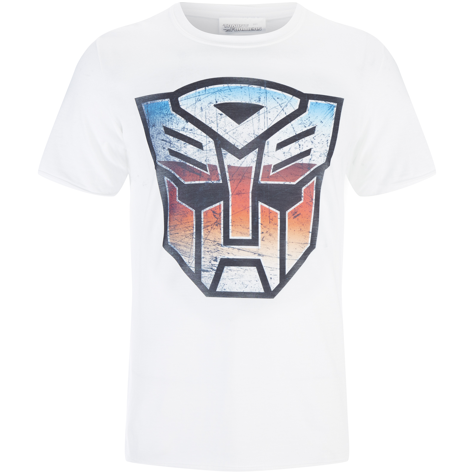 Transformers Men's Transformers Multi Emblem T-Shirt - White - M - Bianco