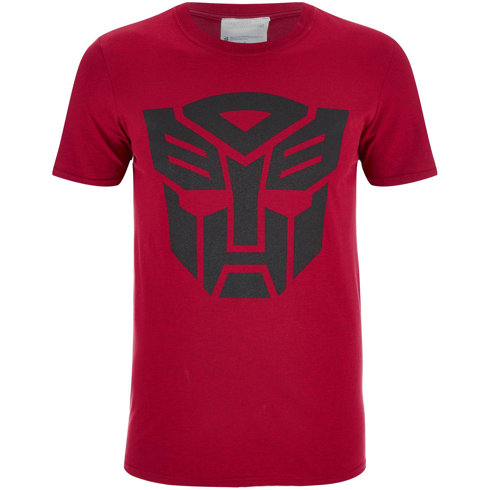 Transformers Men's Transformers Black Emblem T-Shirt - Red - S - Rosso