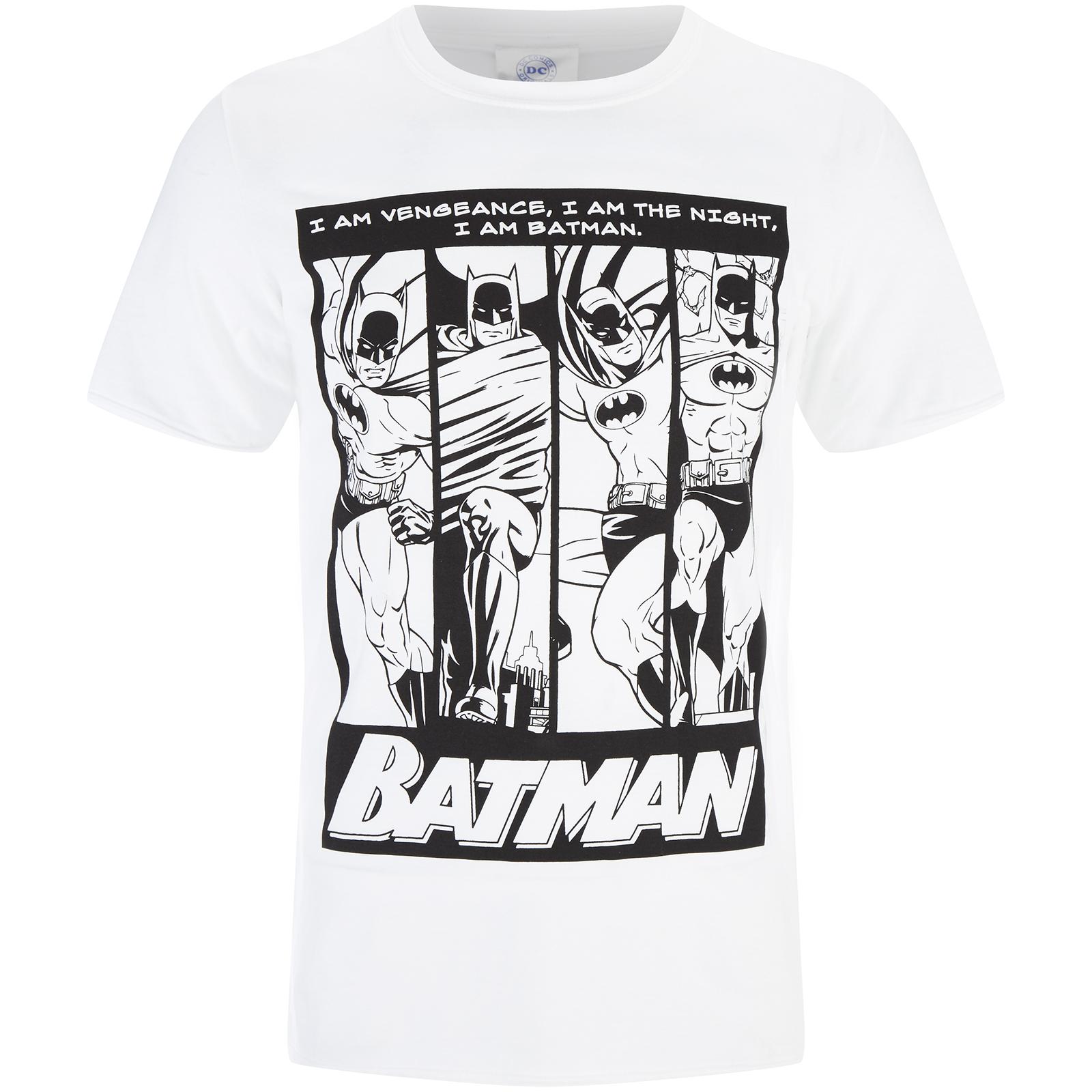 DC Comics Mens Batman I am Batman T-Shirt - White - S - White