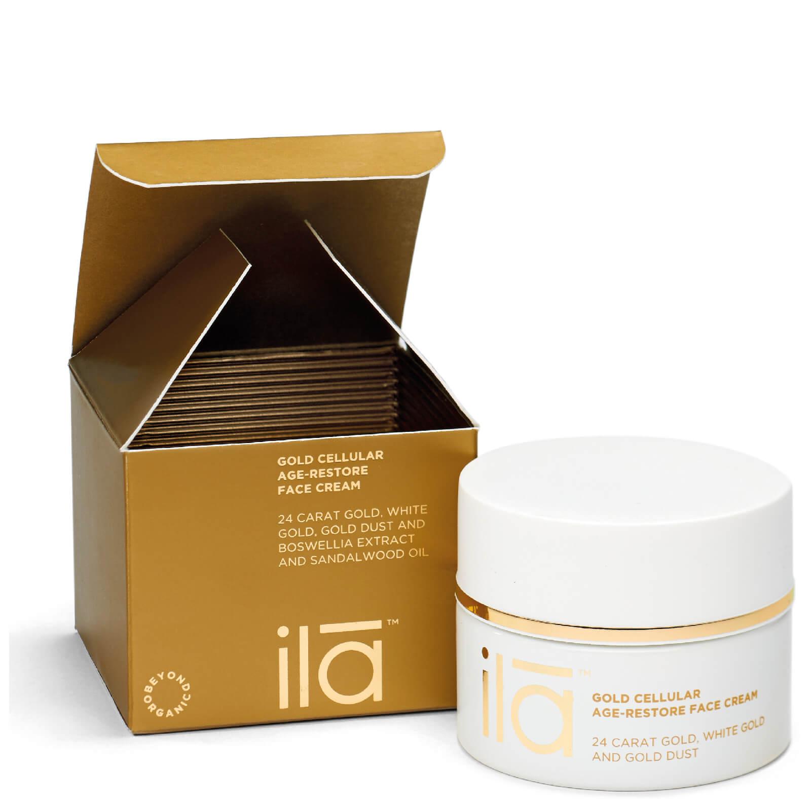 Купить Антивозрастной крем для лица с частицами золота Ila-Spa Gold Cellular Age-Restore Face Cream 50г