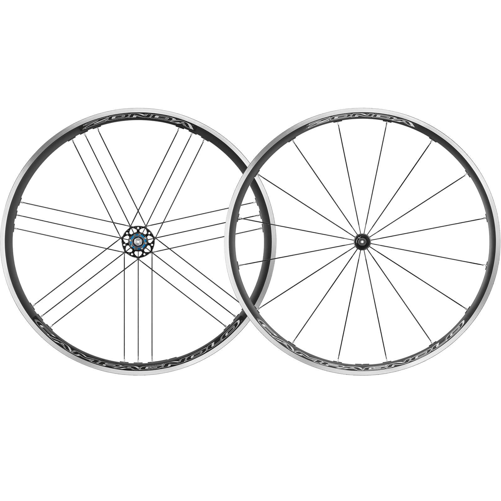 Campagnolo Zonda C17 Drahtreifen-Laufradsatz – Schwarz - Shimano/SRAM